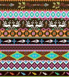 Aztecs seamless pattern with skull