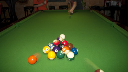 playing pool billiard
