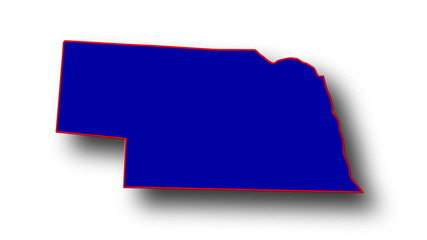 State of Nebraska map reveals from the USA map silhouette