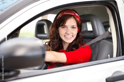 Beautiful woman driver