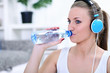 Thirsty sportswoman