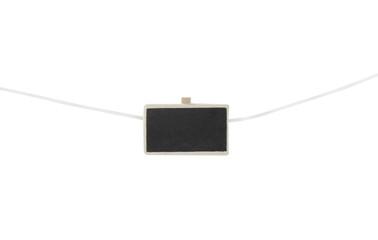 one mini chalkboard on clothesline