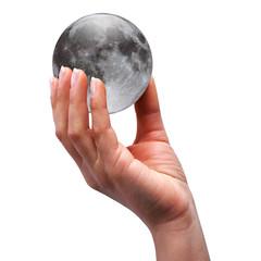 mano con luna