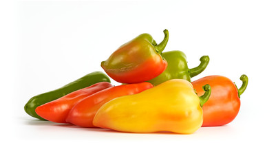 Red, Green, Orange and Yellow Bell Peppers