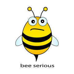 Bee serious vector illustration