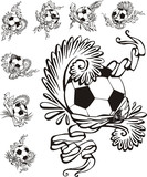 Soccer balls with embellishments poster