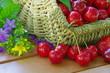 Kirschen im Korb - cherries in basket 02