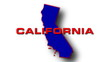 State of California  map reveals from the USA map silhouette