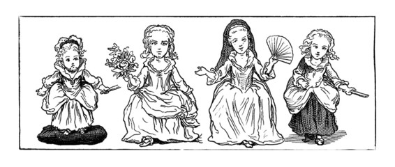 Girls Fashion - 17th century