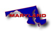 State of Maryland map reveals from the USA map silhouette