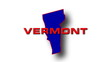 State of Vermont map reveals from the USA map silhouette animati