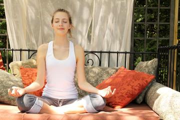 Teen doing yoga