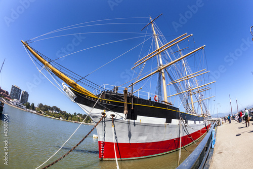 Vintage 1886 sailing ship, Balclutha on public display