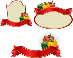 Etichetta conserva peperoni