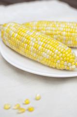 Sweet corn on the cob vertical