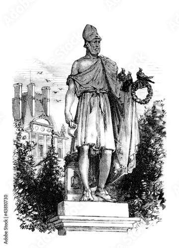 A statue : an antique Greek Hero (Perikles)