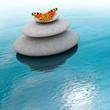 canvas print picture - Zen Steine