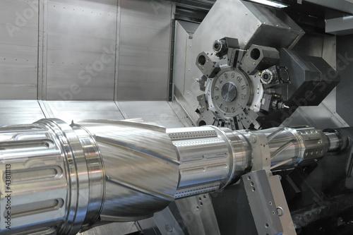 Leinwanddruck Bild Drehbank, CNC-Fräse
