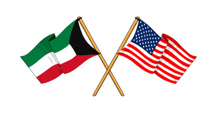 America and Kuwait alliance and friendship