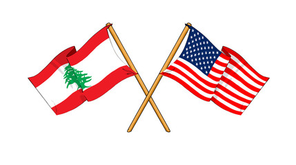 America and Lebanon alliance and friendship