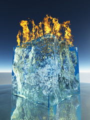 Burning Ice Cube