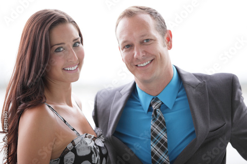 Attractive couple smiling