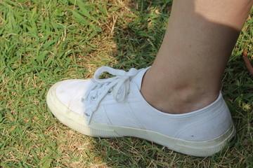 piede con scarpa