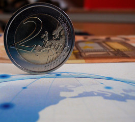 euro coin around the world