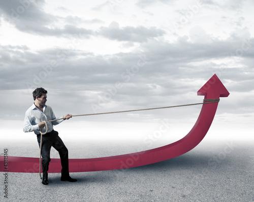 Businessman changes statistics