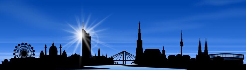 Wien Skyline with blue sky