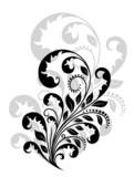 Vintage floral embellishment poster