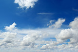 light cumulus clouds on blue sky