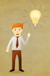 Business man with idea lightbulb
