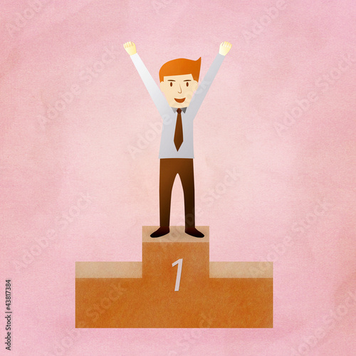 Conceptual image - Success business man
