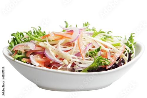 Enoki and Chicory Lettuce Salad