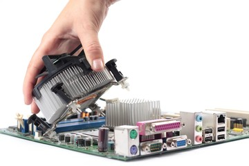 Computer mainboard hardware and installation fan