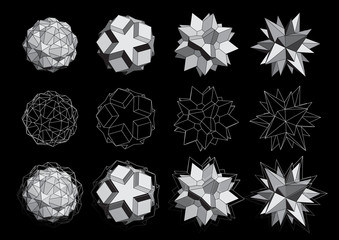 3D logos set