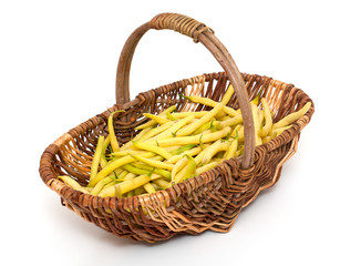 yellow kidney beans in a basket