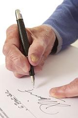 Femme âgée - Signature