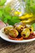Mittelmeerküche - Oliven und getrocknete Tomaten