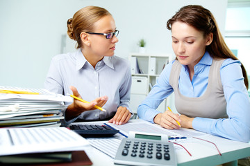 Accountants at work