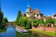 Leinwanddruck Bild - Bateau mouche à Strasbourg