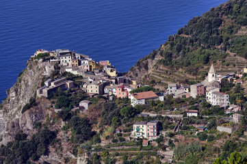 village at sea coast