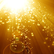 Golden sparkling background