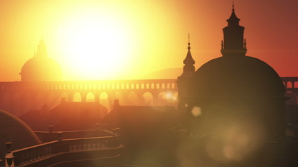 Sunset in Rome 3D animation