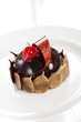 chocolate pastry with cherry