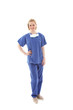 Full length portrait of a young nurse in scrubs