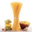 assortment of raw pasta
