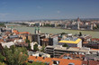 A view of the Pest and Buda part of Budapest