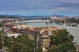 A view of the Pest and Buda part of Budapest poster